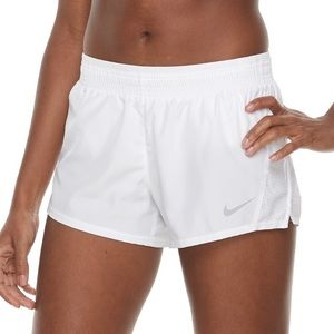 White Nike Dry Fit Shorts